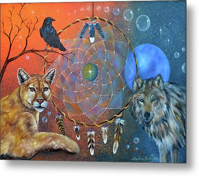 The Courage To Be Free Metal Print by Sundara Fawn