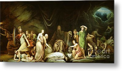 The Court Of Death Metal Print by Rembrandt Peale