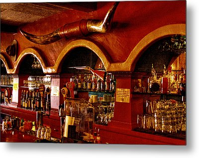 The Cowboy Club Bar In Sedona Arizona Metal Print by David Patterson