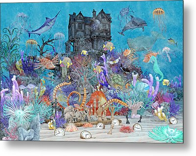 The Curious Place Topsail Island Metal Print by Betsy Knapp