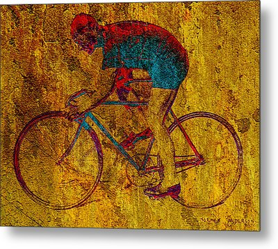 The Cyclist Metal Print by Andrew Fare