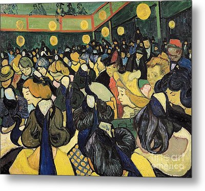 The Dance Hall At Arles Metal Print by Vincent Van Gogh