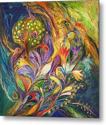 The Dance Of Lilies Metal Print by Elena Kotliarker