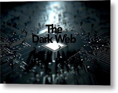 The Dark Web Concept Metal Print by Allan Swart