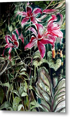The Day Lilies Metal Print by Mindy Newman
