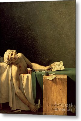 The Death Of Marat Metal Print by Jacques Louis David