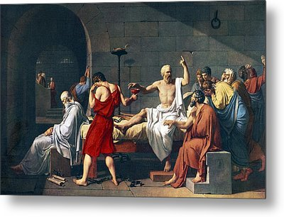 The Death Of Socrates, 1787 Artwork Metal Print by Sheila Terry