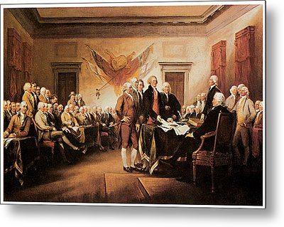 The Declaration Of Independence Metal Print by John Trumbull
