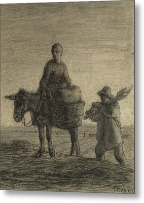 The Departure For Work Metal Print by Jean-Francois Millet