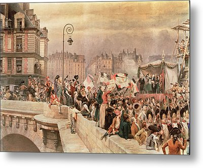 The Departure Of The Volunteers 1792 Metal Print by Jean Baptiste Edouard Detaille
