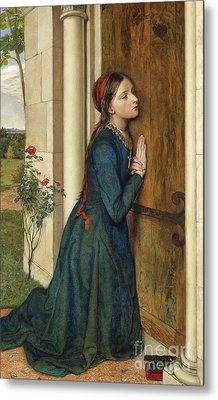 The Devout Childhood Of Saint Elizabeth Of Hungary, 1852 Metal Print by Charles Alston Collins