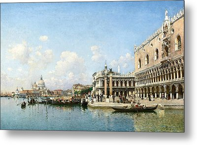 The Doge's Palace And Santa Maria Della Salute Metal Print by Celestial Images