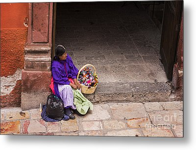 The Doll Peddler Metal Print by Juli Scalzi