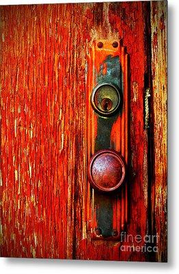 The Door Handle  Metal Print by Tara Turner