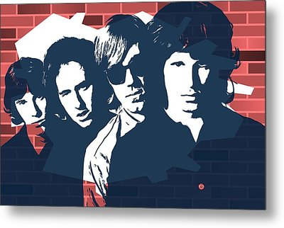The Doors Graffiti Tribute Metal Print by Dan Sproul