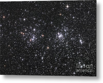 The Double Cluster, Ngc 884 And Ngc 869 Metal Print by Robert Gendler