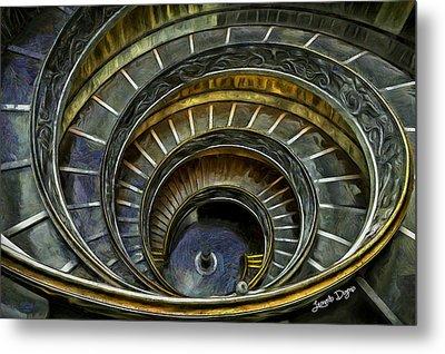 The Double Spiral - Da Metal Print by Leonardo Digenio