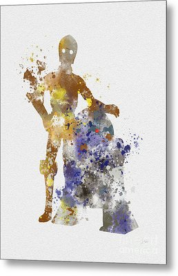 The Droids Metal Print by Rebecca Jenkins