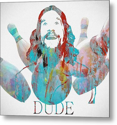 The Dude Bowling Metal Print by Dan Sproul