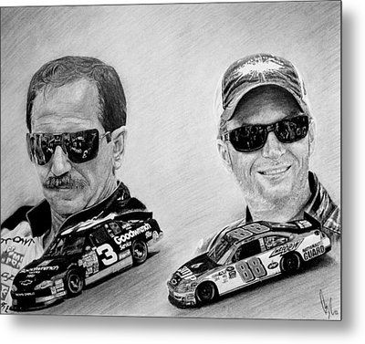 The Earnhardts Metal Print by Bobby Shaw
