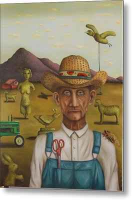 The Eccentric Farmer Metal Print by Leah Saulnier The Painting Maniac