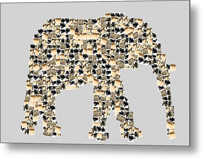 The Elephant Metal Print by Toppart Sweden
