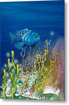 The Emerald Grouper Metal Print by Lee Pantas