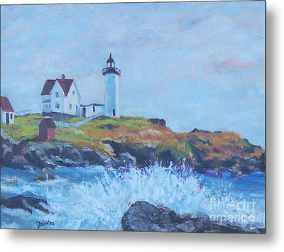 The End Of Summer- Cape Neddick Maine Metal Print by Alicia Drakiotes