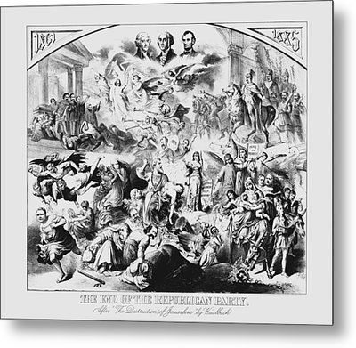 The End Of The Republican Party Metal Print by War Is Hell Store