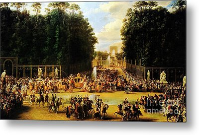 The Entry Of Napoleon And Marie-louise Metal Print by Celestial Images
