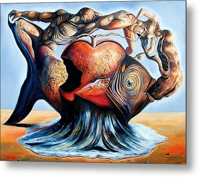 The Eternal Question Of Time Metal Print by Darwin Leon