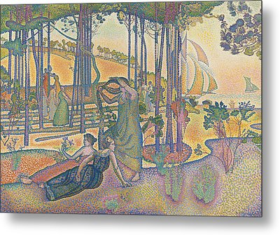 The Evening Air Metal Print by Henri-Edmond Cross