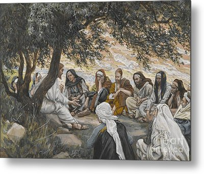 The Exhortation To The Apostles Metal Print by Tissot