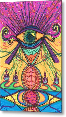 The Eye Opens... To A New Day Metal Print by Daina White