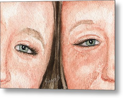 The Eyes Have It- K And K Metal Print by Sam Sidders