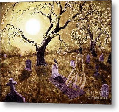 The Fading Memory Of Lenore Metal Print by Laura Iverson