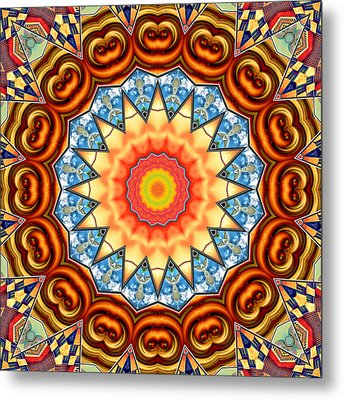 The Fairground Collective 05 Metal Print by Wendy J St Christopher