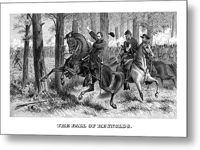 The Fall Of Reynolds Metal Print by War Is Hell Store