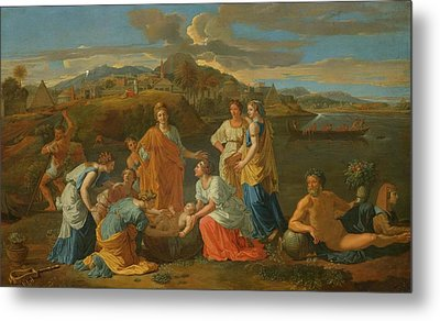 The Finding Of Moses Metal Print by Nicolas