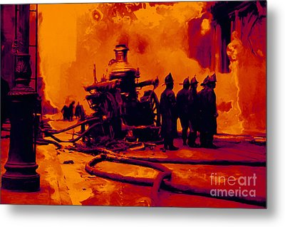 The Fire Fighters - 20130207 Metal Print by Wingsdomain Art and Photography