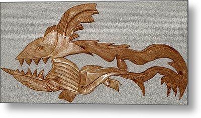 The Fish Skeleton Metal Print by Robert Margetts
