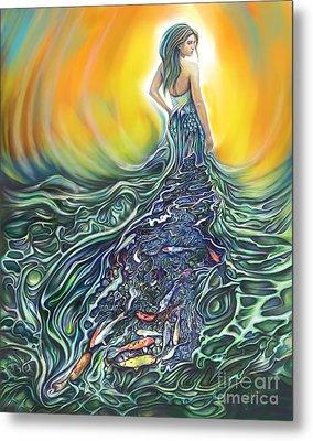 The Fish Wife Metal Print by Julianne Black