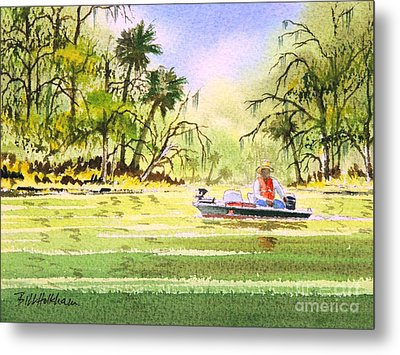 The Fishing Is Done - Heading Home Metal Print by Bill Holkham