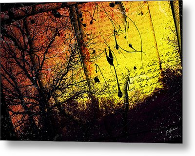 The Flaxen Eve Metal Print by Gary Bodnar