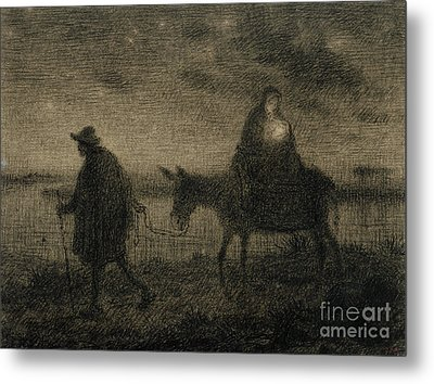 The Flight Into Egypt Metal Print by Jean Francois Millet