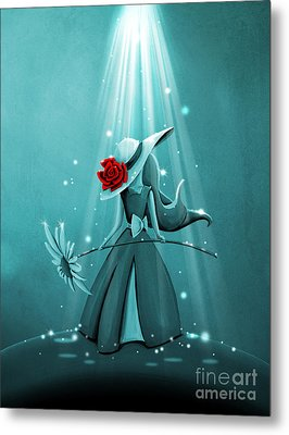 The Flower Girl - Remixed Metal Print by Cindy Thornton