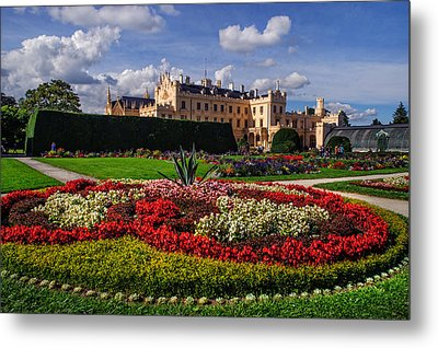 The Flowers Heaven. Czech Lednice Metal Print by Jenny Rainbow