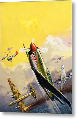 The Flying Tigers During The Spanish Civil War Metal Print by Severino Baraldi