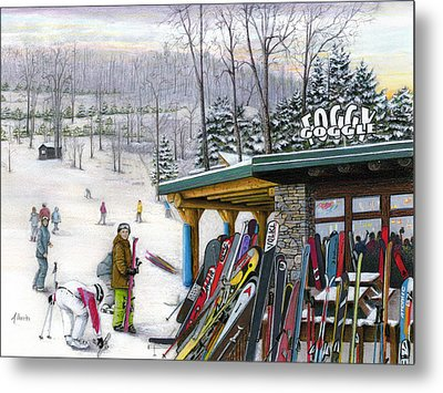 The Foggy Goggle At Seven Springs Metal Print by Albert Puskaric