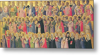 The Forerunners Of Christ With Saints And Martyrs Metal Print by Fra Angelico
